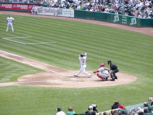 Eric Chavez at the plate