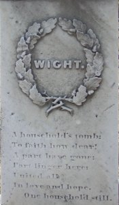 Wight family grave marker