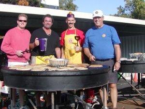Ukiah Host Lions pancake crew