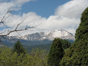 Pikes Peak from Garden of the Gods