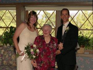 Trish, Annie and Bob on our wedding day