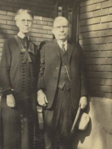 Virena and Adelbert Wight, taken in Salt Lake City, Utah - date unknown