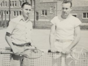 Cal and his brother, Gardner, at Analy High School - Sebastopol, CA (date unknown)