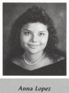 Anna Lopez's graduation photo - MVHS 1987