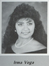 Irma Vega's graduation photo - HHS 1987